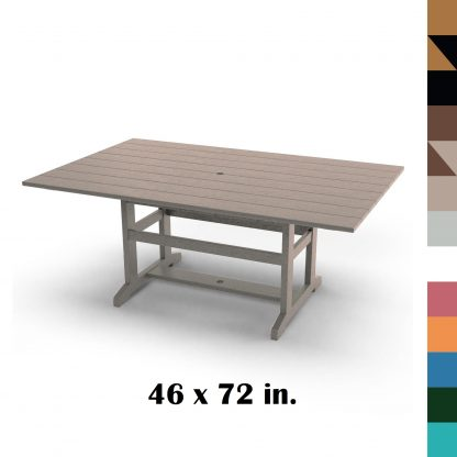 46 x 72 in Durawood Dining Table - HHDT72 - all colors