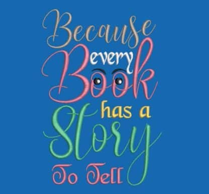 reading cushion quote every book has a story to tell
