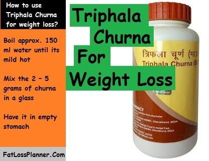 Patanjali Triphala churna for weight loss