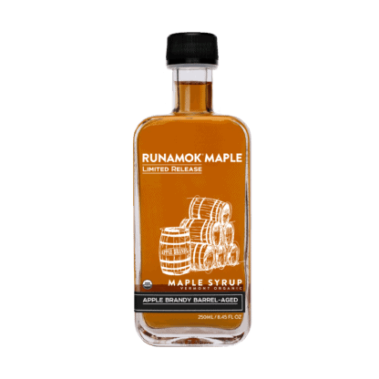 Apple Brandy Barrel-aged Maple Syrup by Runamok Maple