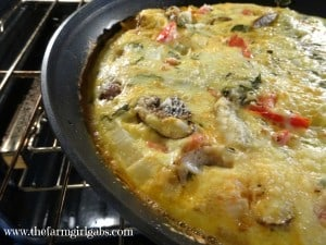 frittata in oven