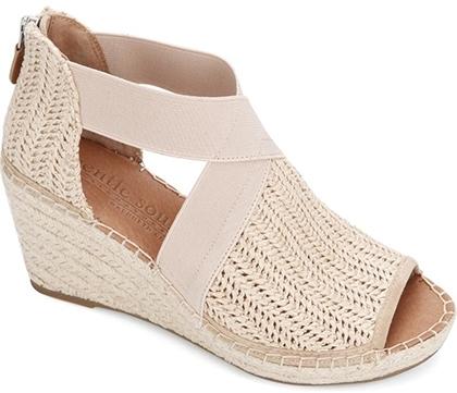 Plantar fasciitis shoes - Gentle Souls Signature Colleen Wedge Sandal   40plusstyle.com