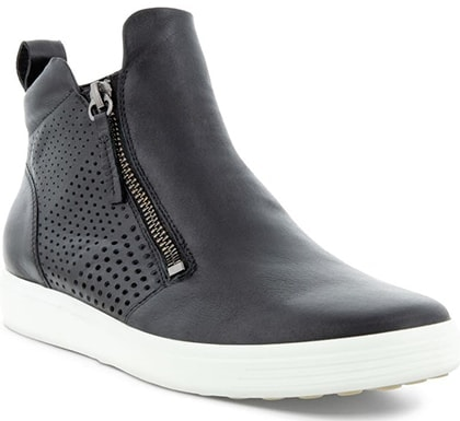 ECCO Soft 7 Perforated Bootie   40plusstyle.com