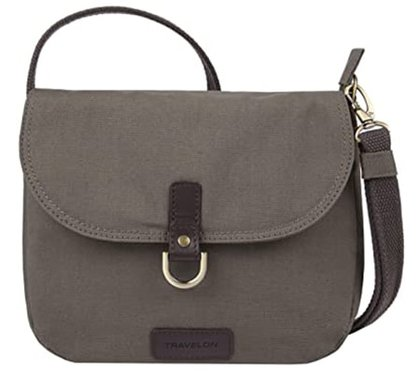 Travelon Anti-Theft Courier Saddle Crossbody Bag | 40plusstyle.com
