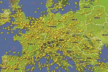 Felhő az európai repülés felett