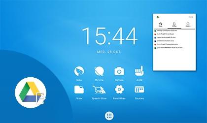 écran interactif espace de travail à distance