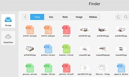 logiciel écran tactile android avec Cloud