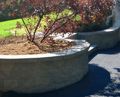 process for creating retaining walls