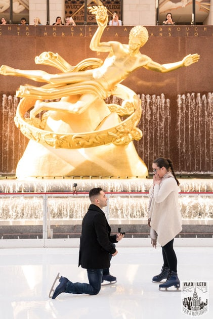 Photo 3 Proposal at the Rink at Rockefeller Center | VladLeto
