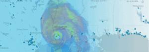 Hurricane approaching the US coast