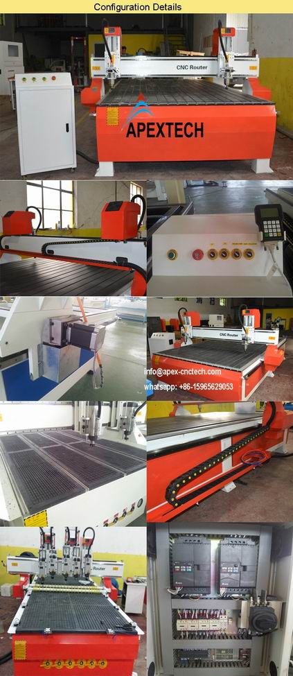 ACP Wood Carving Machine CNC Router 2030 with 6kw Watercooling Spindle details