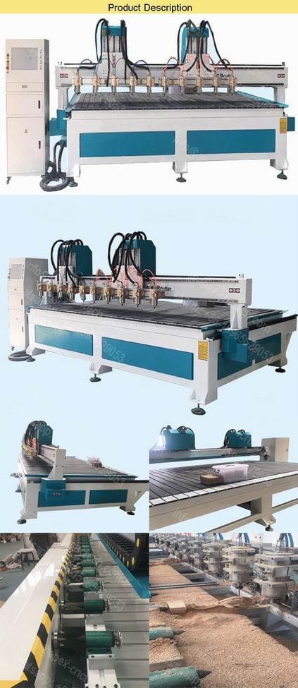 Wood 3D CNC Router Woodworking CNC Machines 4axis Equipment for Woodworking With 12 Rotary Axis