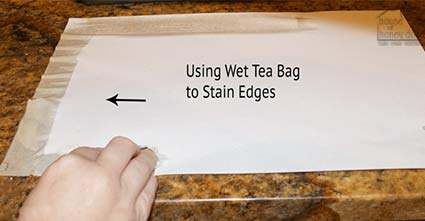 using tea bag on paper