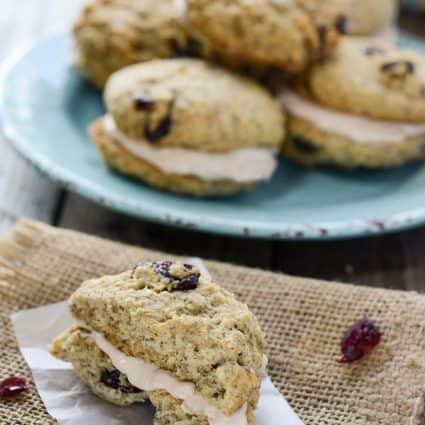 Cranberry Oatmeal Sandwich Cookies (Vegan, Gluten-Free)