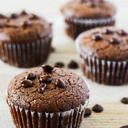 Carob Muffins (Vegan, Gluten-Free)