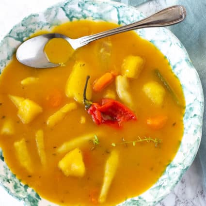 Vegan Pumpkin Soup, Jamaican Style
