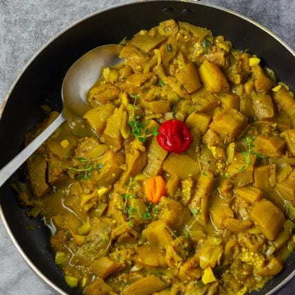 Jamaican Style Eggplant Curry