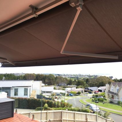 Motorised retractable awning in East Auckland
