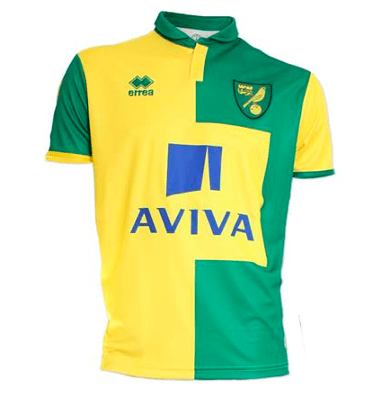 norwich city home jersey