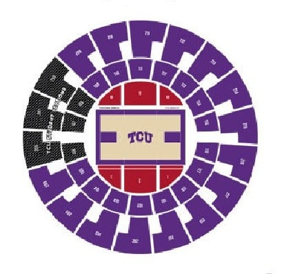 TCU Horned Frogs Mens Basketball Seating Chart