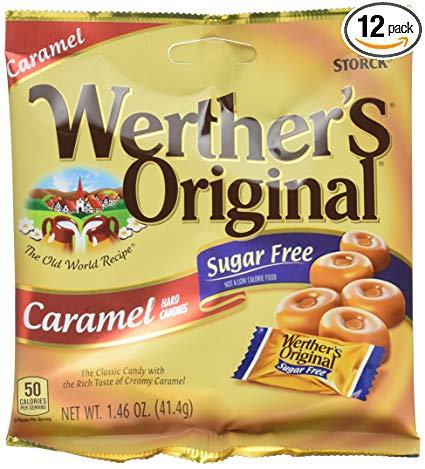 WERTHER'S ORIGINAL Sugar Free Caramel Hard Candy