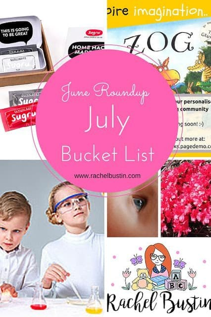 June Roundup and July Bucket List - blogging and day to day