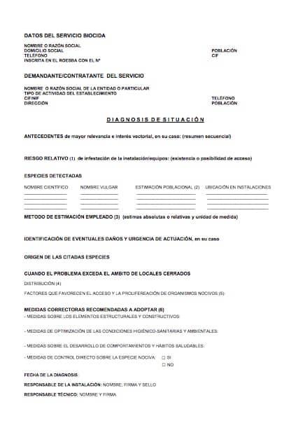 certificado ddd plagas
