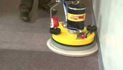 applying the encapsulation carpet cleaning process to a bedroom