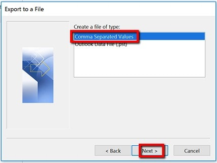 Export Contacts From Outlook To Excel_4