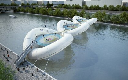 Image: Fun Inflatable bridge/pool
