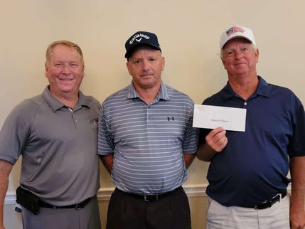 2nd Place winners of the OFTC Foundation North's 7th Annual Golf Tournament. L-R: Roy Jackson, Steve Joiner, Fred Condit (not pictured Floyd Potter)