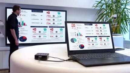 Avec l'outil de partage d'écran QuattroPod, gardez le tactile de l'écran interactif