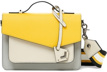 Botkier colorblock leather crossbody bag | 40plusstyle.com
