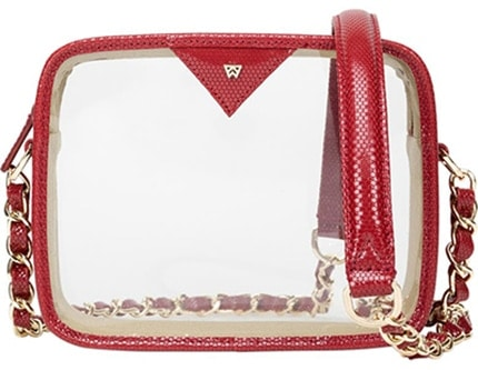 Kelly Wynne Clear Mingle Mingle Mini Crossbody Bag | 40plusstyle.com