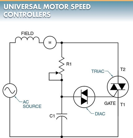 speed control of universal motor using diac and triac