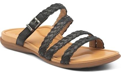 Plantar fasciitis shoes - Aetrex Brielle Slide Sandal   40plusstyle.com