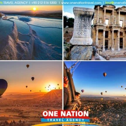 5 Days Turkey Tour from Kusadasi: Ephesus, Pamukkale and Cappadocia (Tour will start in Kusadasi and will end in Istanbul)