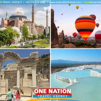 6 Days Istanbul, Cappadocia, Pamukkale and Ephesus Tour by Plane & Bus