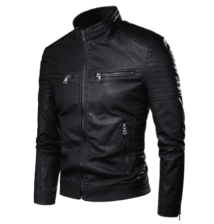 leather jacket teenage guys fashion trend