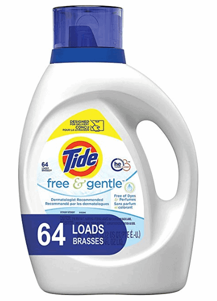 Tide Free and Gentle HE Laundry Liquid Detergent
