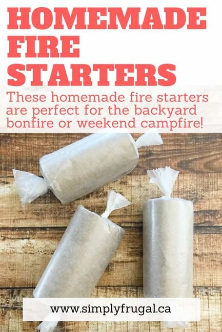 Get your outdoor fun underway with these easy homemade fire starters using items you have on hand! Perfect for the backyard bonfire or the weekend campfire!