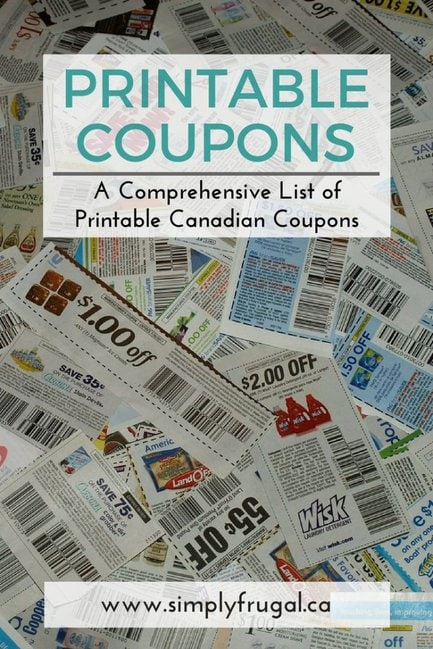 A comprehensive list of Printable Canadian Coupons!
