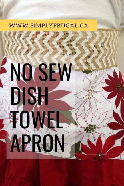 Here's how to create a No Sew Dish Towel Apron that any chef would love to receive!