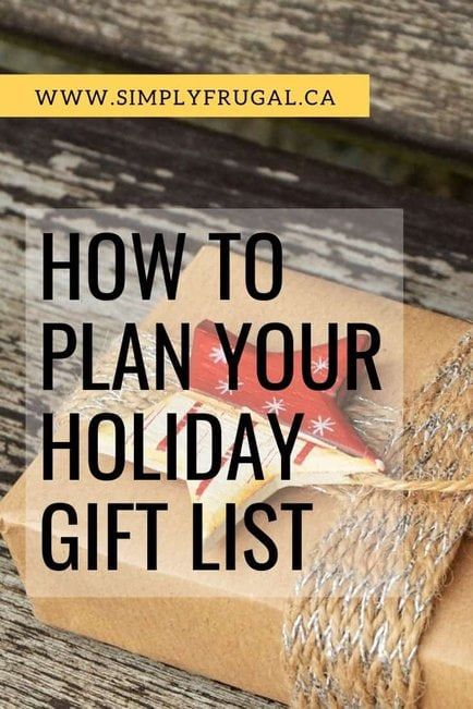 8 Weeks to a More Organized Christmas: How to Plan Your Gift List