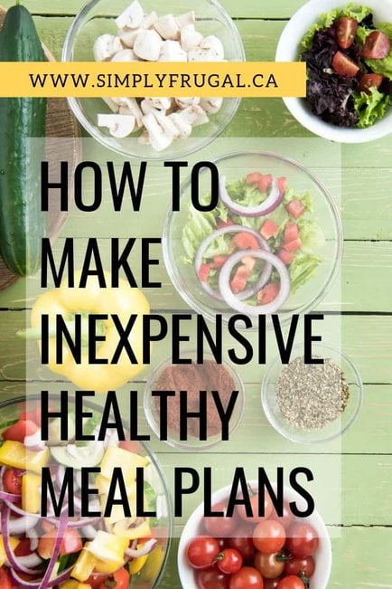 How to make an inexpensive healthy meal plan for families on a budget.