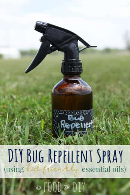 Summertime means time in the great outdoors... it also means bugs, bugs everywhere. EWW. This DIY Bug Repellent Spray will keep the bugs away and is safe for the whole family.