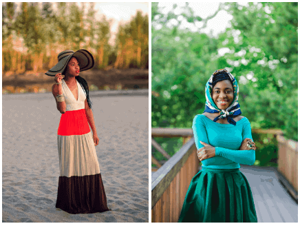 Maxi dress, and full skirt