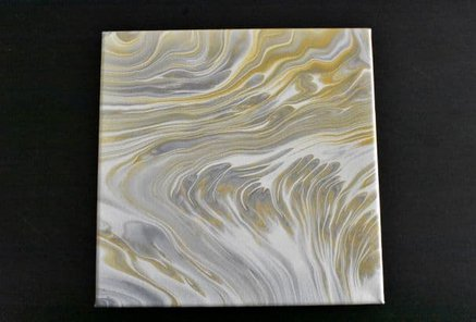 Tree Ring Pour House Paintan example of choosing paint colors for acrylic pouring