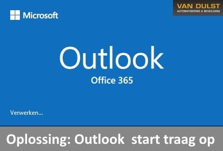 Outlook start traag op