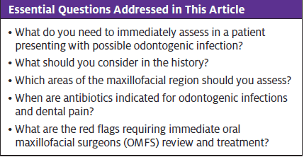 Odontogenic Infection; Topics Addressed in Article